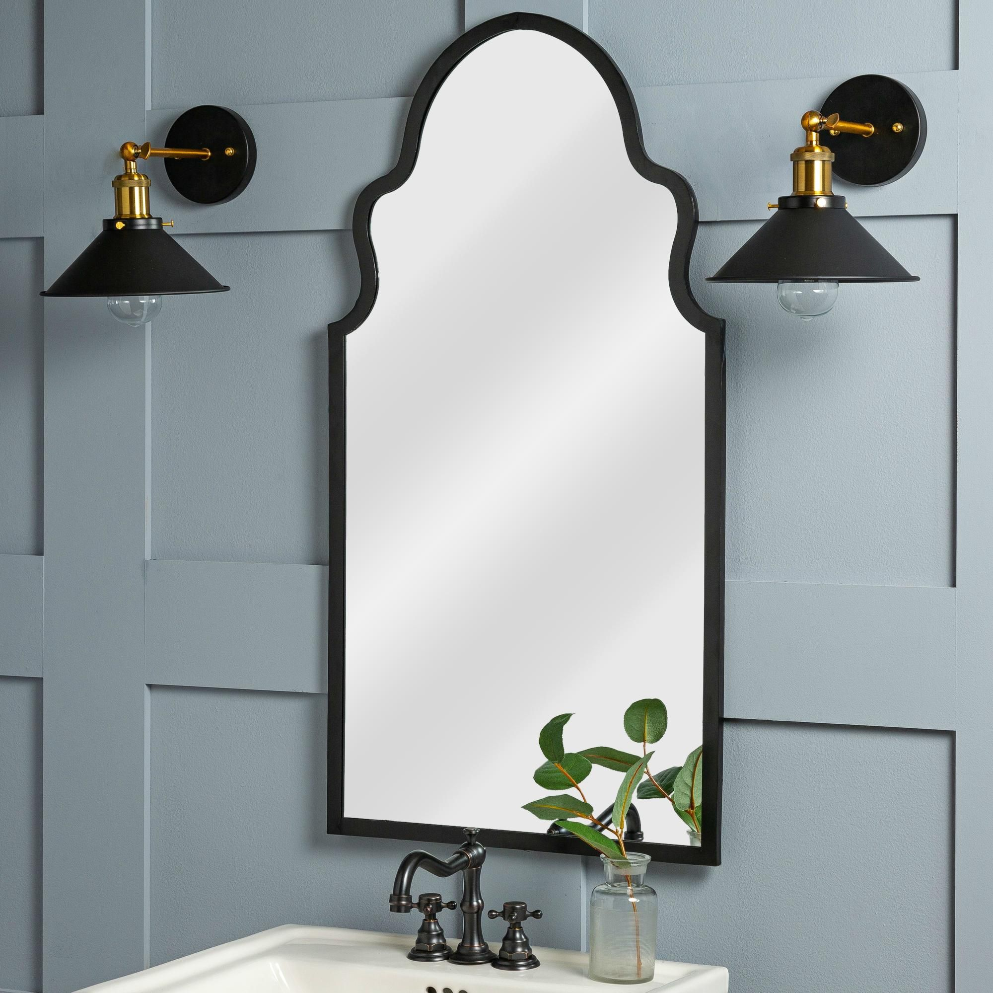 Cooper Classics Collen Black 20 Inch X 37 And Three Quarter Inch Wall Mirror In 2020 Mirror Wall Modern Bathroom Faucets Traditional Wall Mirrors