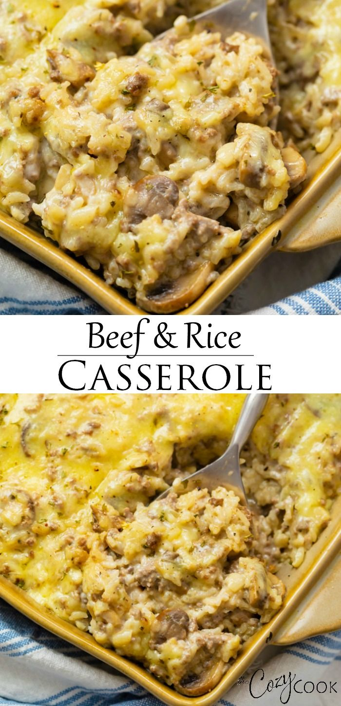 Beef and Rice Casserole- Extra CHEESY!