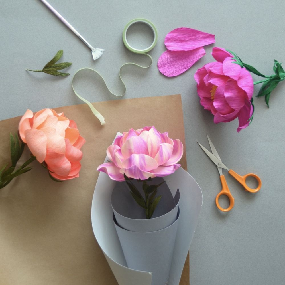 Handmade crepe paper flowers paper crafts pinterest crepe handmade crepe paper flowers mightylinksfo