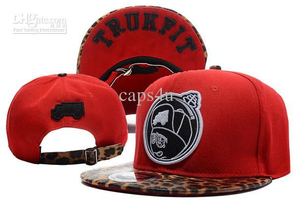 4a2d1e27649a1 Wholesale TRUKFIT Feelin Spacey Boys Leopard Red Snapbacks Snap Back Hats  Fitted Ball Caps Knitted Beanies