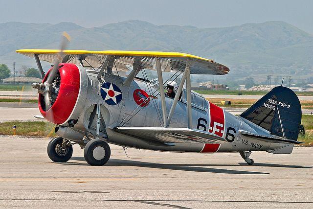 Biplane 1930s Grumman F3f2 Vintage Aircraft Aircraft Wwii Aircraft