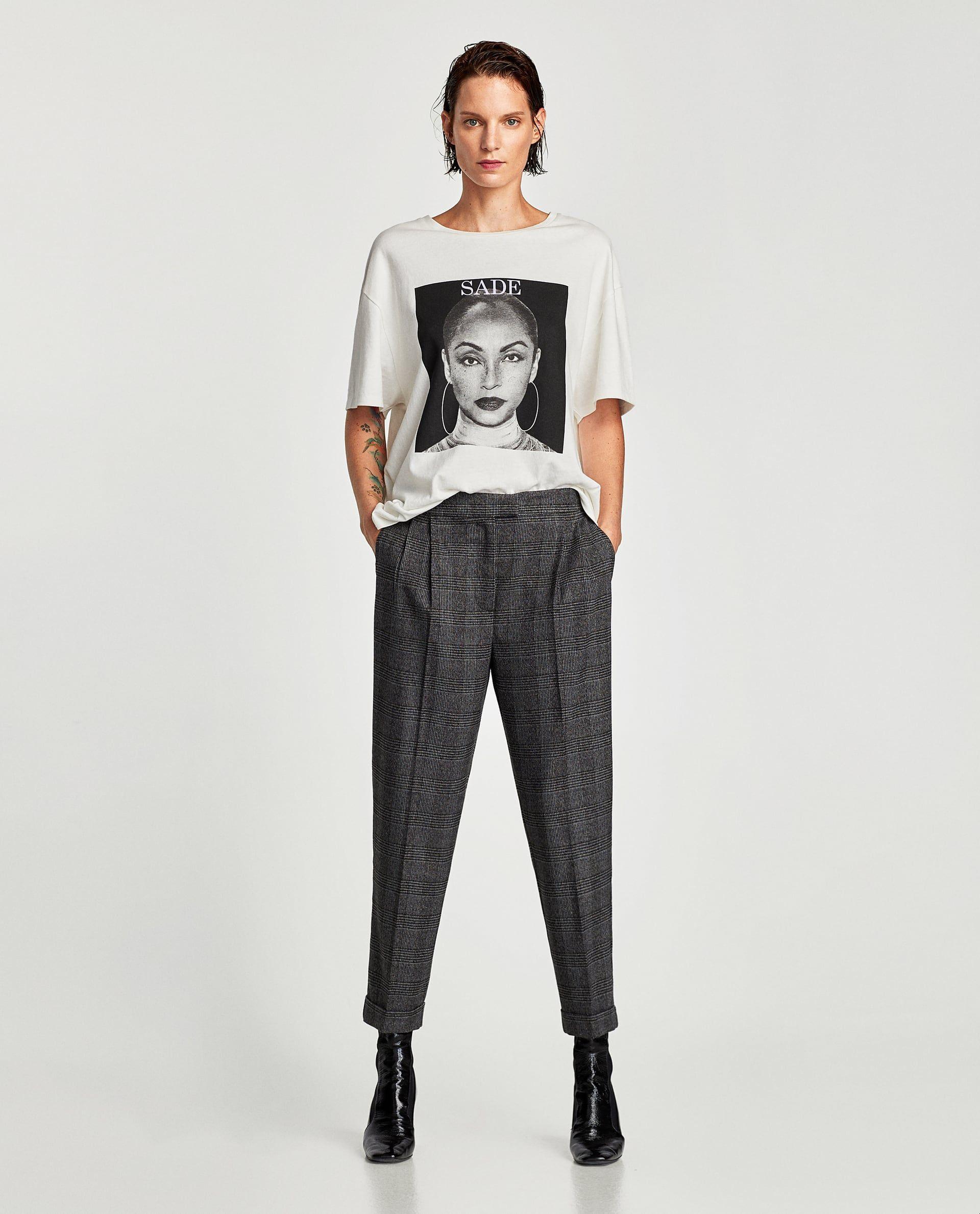 0b6b4c902 PANTALÓN FRANELA CUADROS | Uniform | Zara mujer pantalones ...