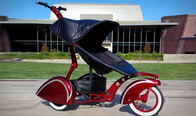The Roddler Brandy Wine Candy Red Classic Stroller