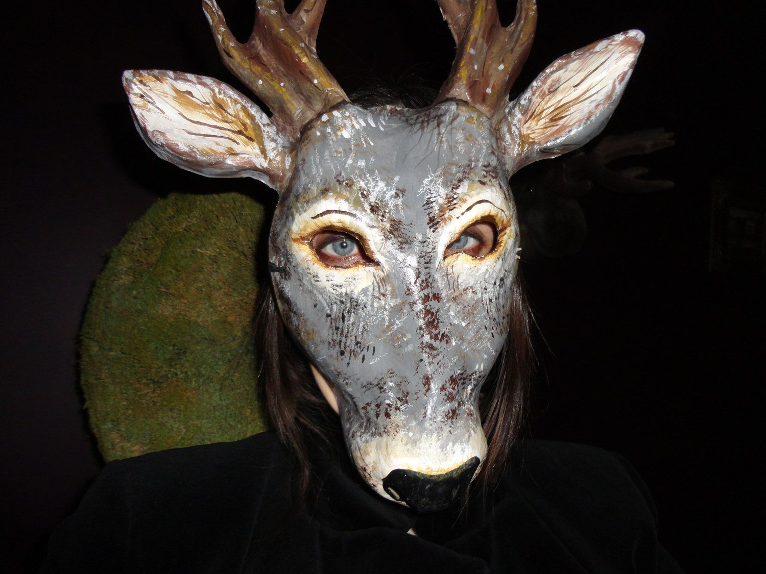 Paper mache papier mache animal mask deer mask. $49.00, via Etsy ...