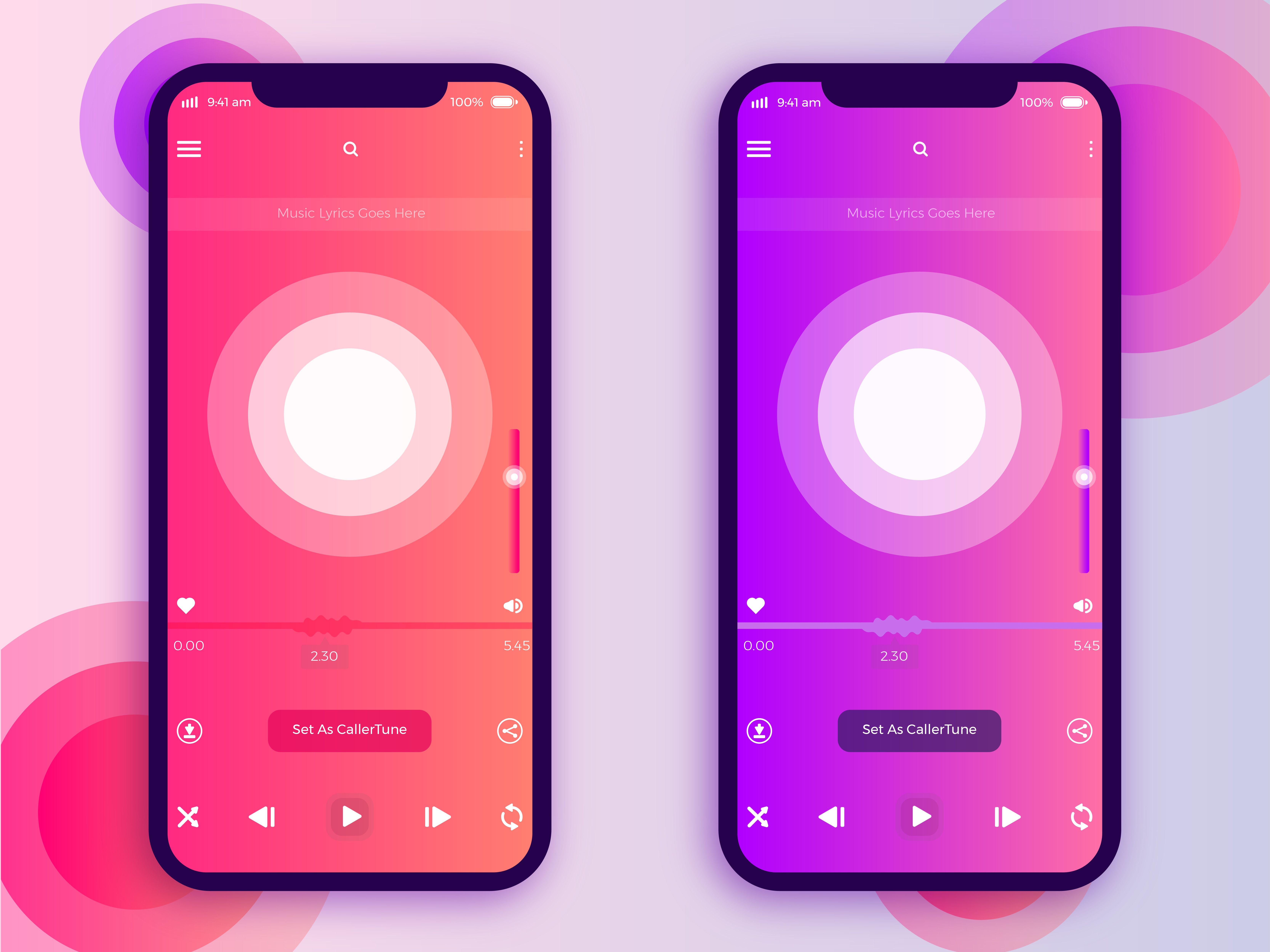 Music App UIX Design Color App design inspiration