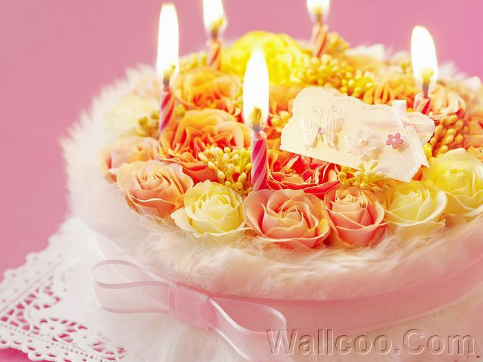 Flower Cake Silk Birthday Cake Romantic interiors Pinterest