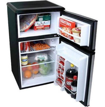 SPT Energy Star 3.2 cu.ft. Double Door Refrigerator in Stainless Steel: Appliances