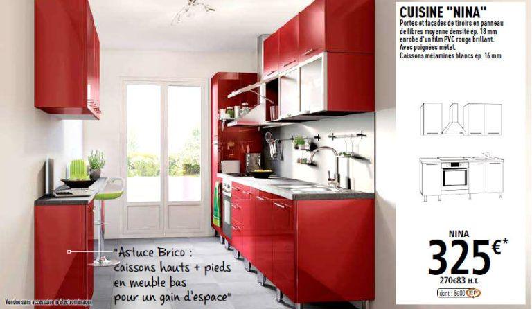 Les Cuisines Brico Depot Meuble Haut Cuisine Cuisine Rouge Meuble Cuisine