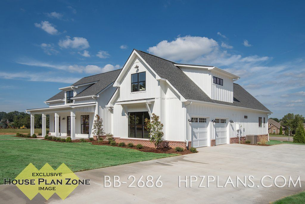 Theres no shortage of curb appeal for this beautiful 4 bedroom modern farmhouse plan visit