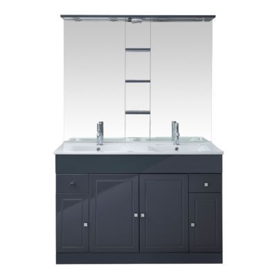Ensemble de salle de bains gris COOKE & LEWIS Atrato 120 cm