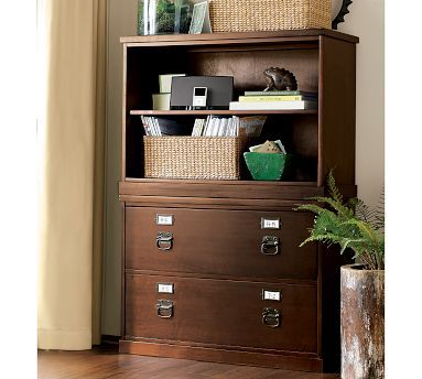Bedford 2 Shelf Bookcase Antique White Maximize SpaceFiling CabinetsPottery