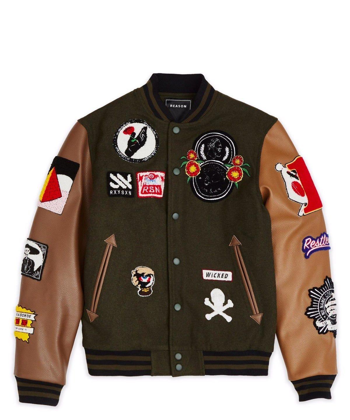 mens panter varsity jacket olive sz 3x #varsityjacketoutfit