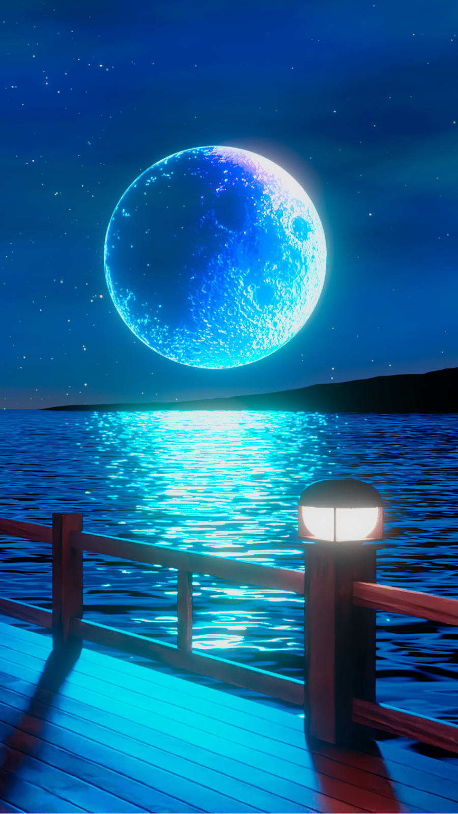 Full Moon Of The Night Beautiful Wallpapers Night Sky Wallpaper Scenery Wallpaper