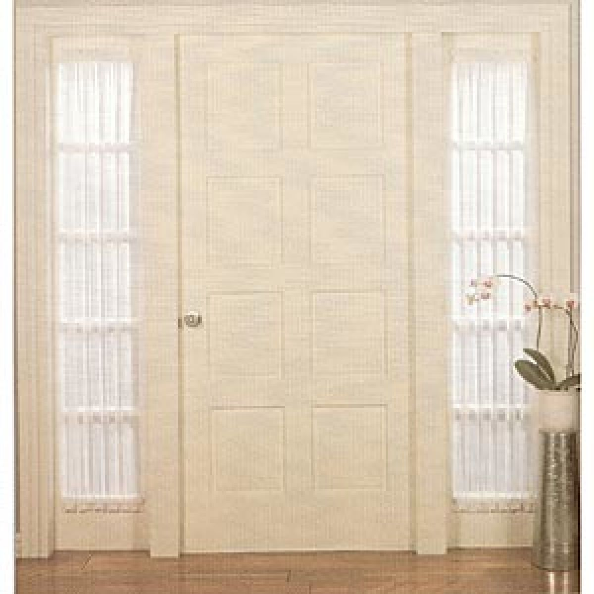Side Panel Window Curtains Sidelight Windows Front Doors With