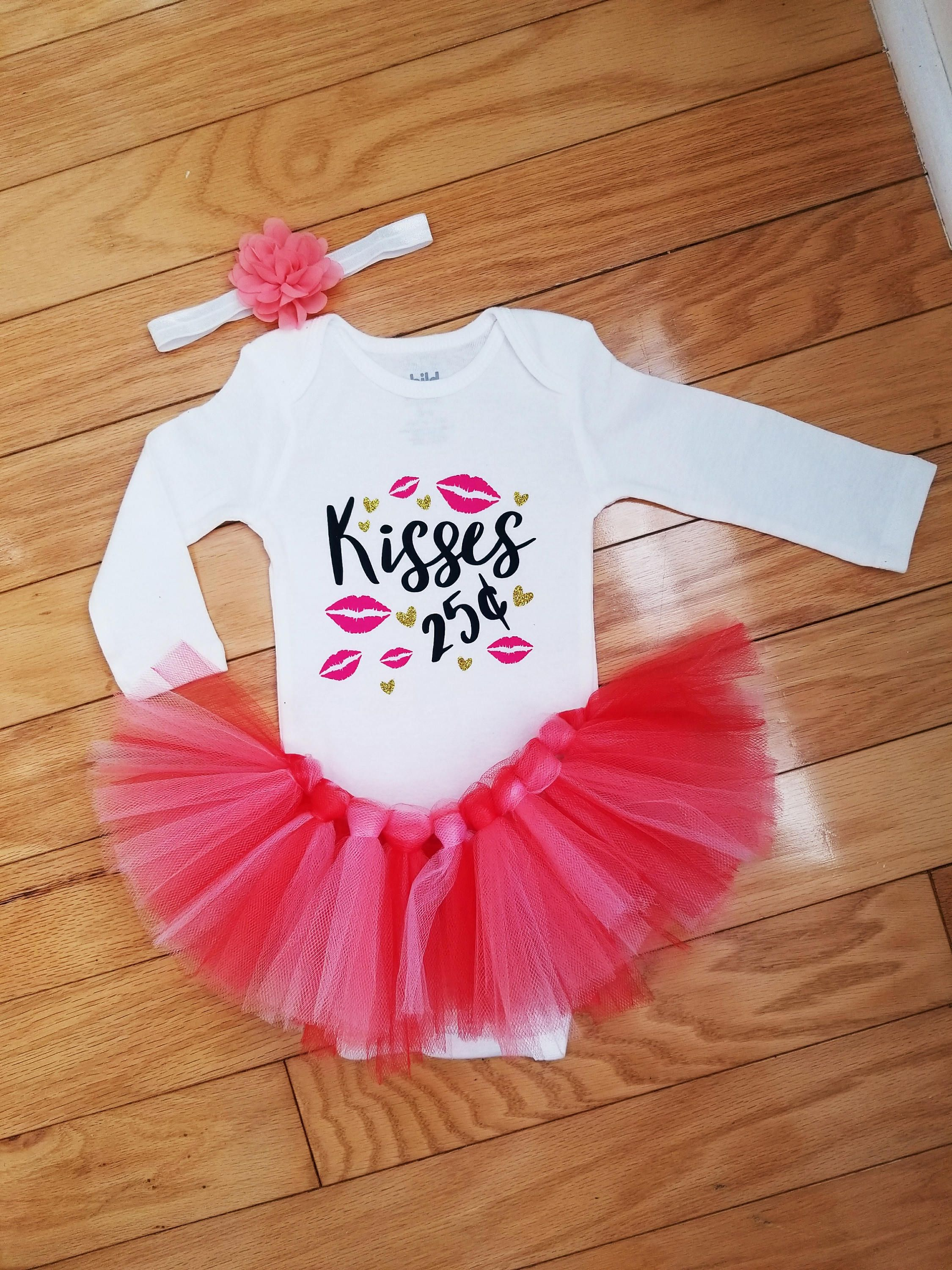 Valentine S Day Outfit Baby Girl 1st Valentine S Day Outfit Baby