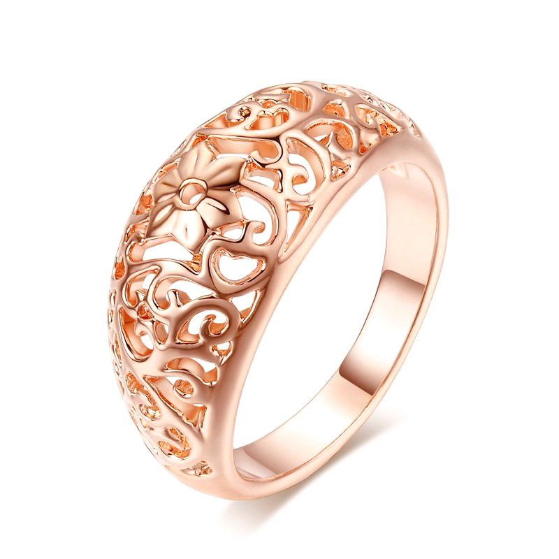 Flower Rose Gold Color Ring   Fashion jewelry, Fashion ...