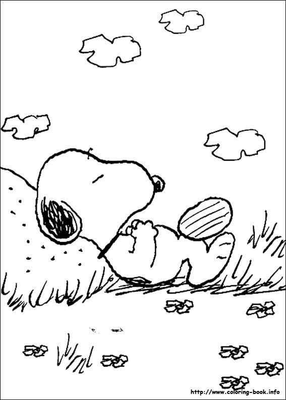 link to 43 Peanuts coloring pages | great vintage coloring pages ...