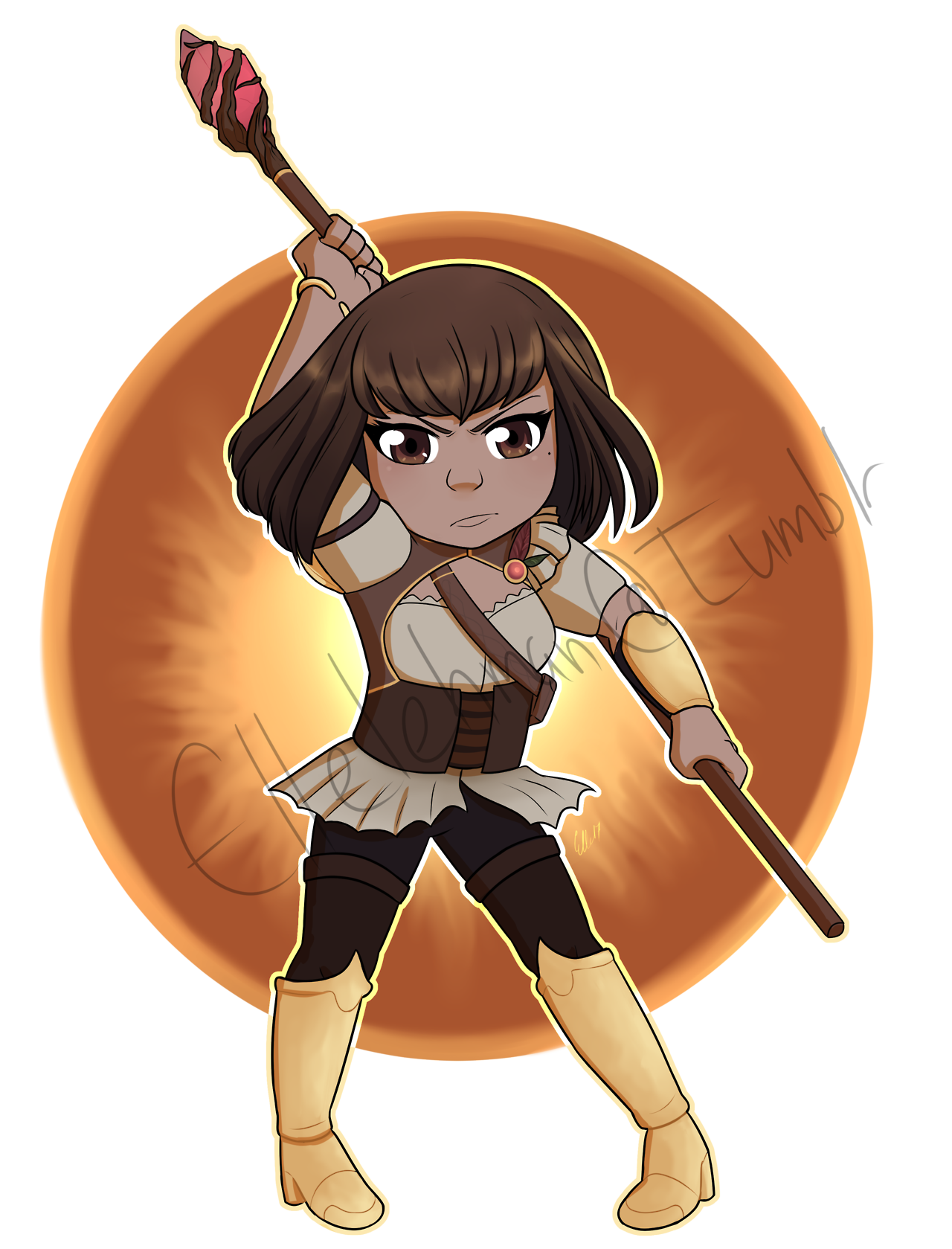 Transparent Chibi Commission of Amber from RWBY - #Amber #art #Chibi #Commission #DON'T #Ellelehman #Ellieart #Fall #Maiden #Maidens #my #REPOST #RT #RWBY #work
