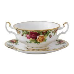 Royal Albert Old Country Roses Cream Soup Saucer   Fine China and ...