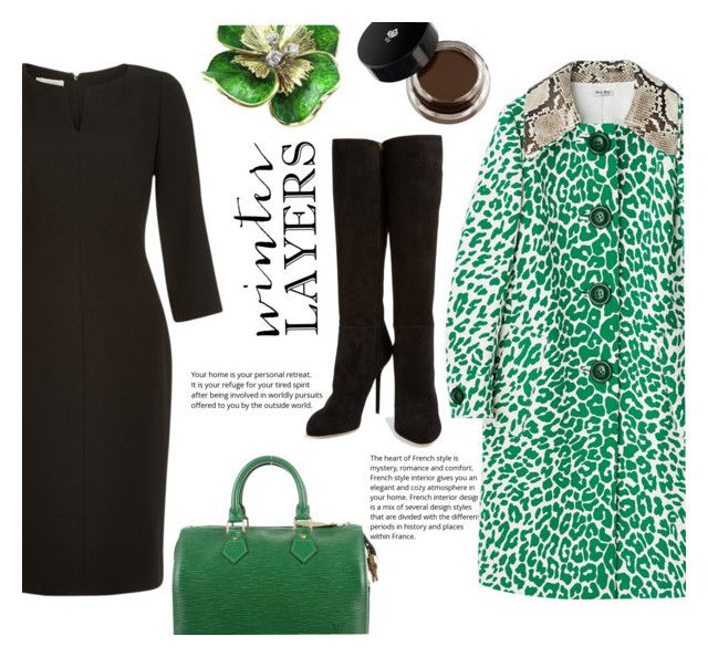"""""""Winter Layers"""" by juliehalloran ❤ liked on Polyvore featuring Hobbs, Sergio Rossi and Louis Vuitton"""