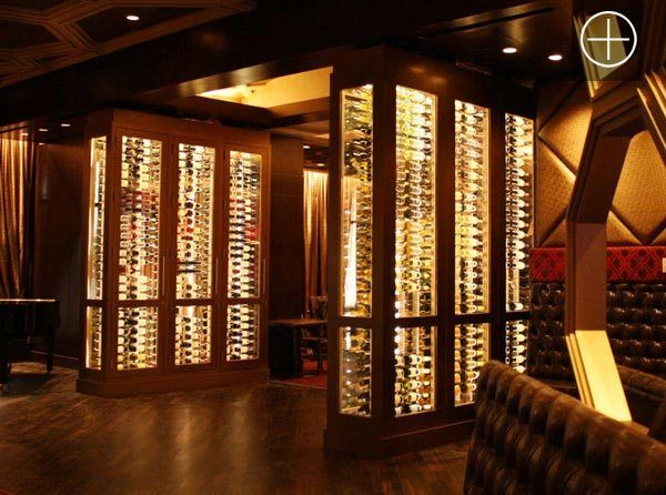 Steel And Glass Conditioned Wine Cabinets Wine Display