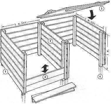 silos compost en bois jardinage pinterest potager jardinage et composteurs. Black Bedroom Furniture Sets. Home Design Ideas
