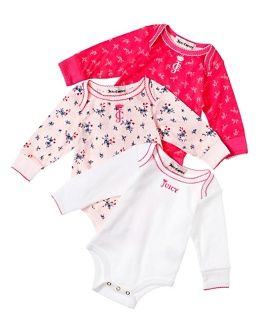 6a662af6318a Juicy Couture 3 Pack Printed Bodysuits 3 6 months baby shower