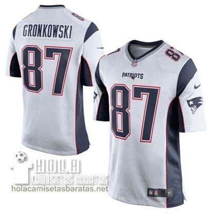 Camisetas Nfl Baratas Gronkowski New England Patriots  87 Blanco €32.9 e9a3a95b01d