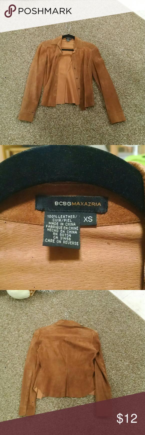 Selling this Leather bcbg max azria on Poshmark! My username is: emilyherch. #shopmycloset #poshmark #fashion #shopping #style #forsale #BCBGMaxAzria #Jackets & Blazers