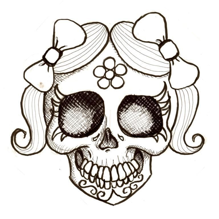 Day Of The Dead Coloring Day Of The Dead Girl Jaunita Desenho