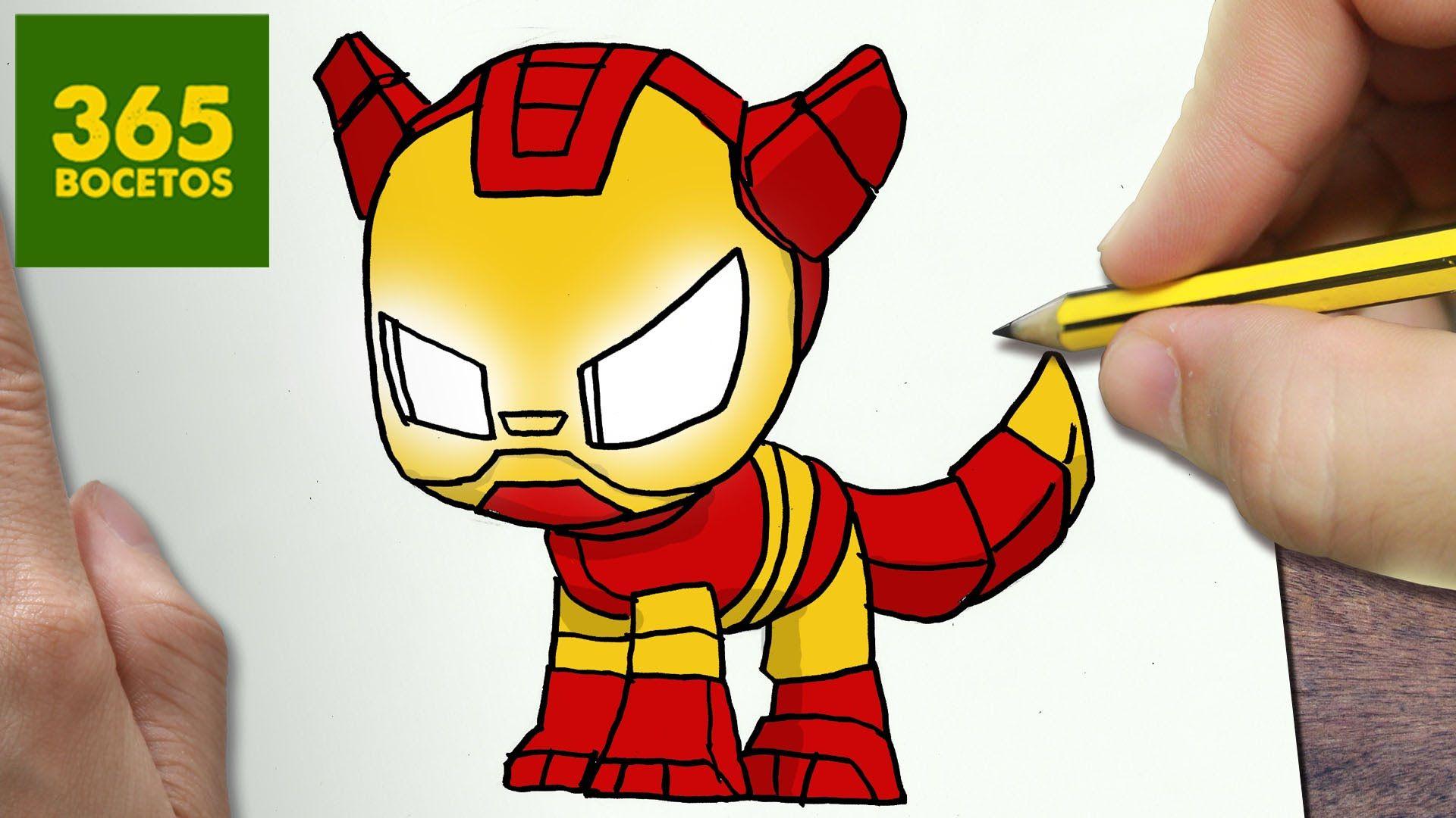 Como Dibujar Perro Iron Man Kawaii Paso A Paso Dibujos Kawaii