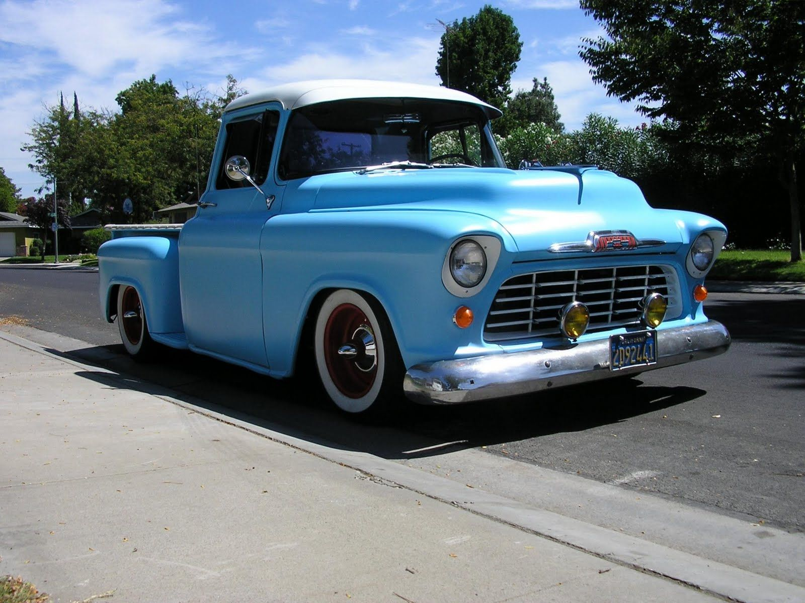1955 chevrolet hot rod truck pictures to pin on pinterest - 1955 Chevrolet Cameo Pickup