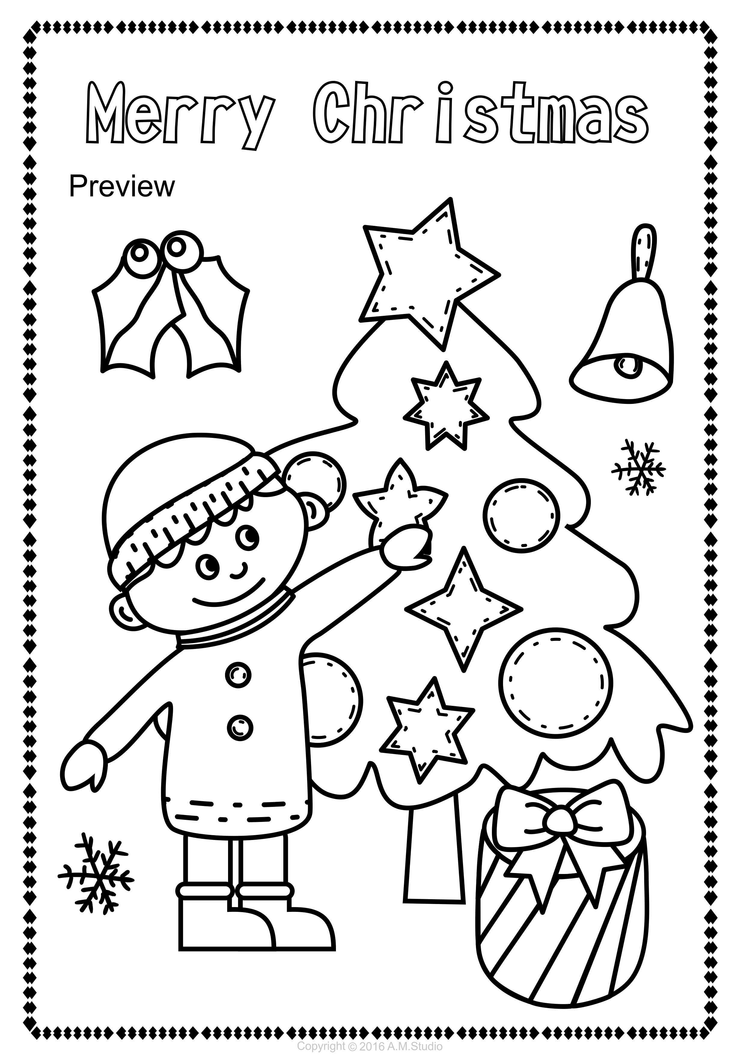 This Christmas Coloring Pages Activity Includes 14