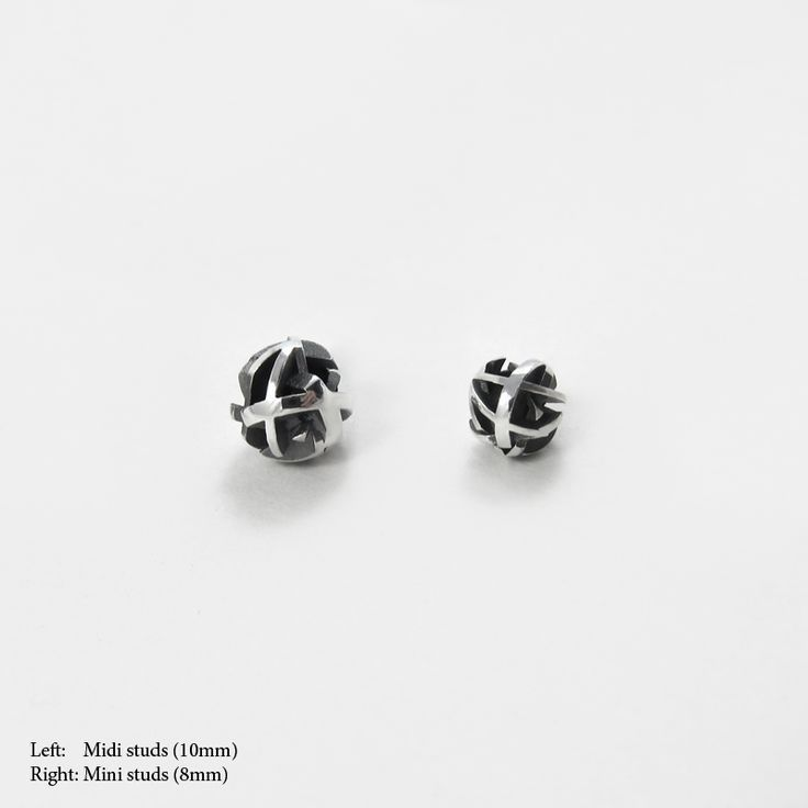 3D printed stud earrings Oxidized silver studs Fairina Cheng Jewellery   #contemporaryjewellery #earings #studs #silver #contemporaryjewelry #3dprintedjewelry #3dprinted #3dprintedearings