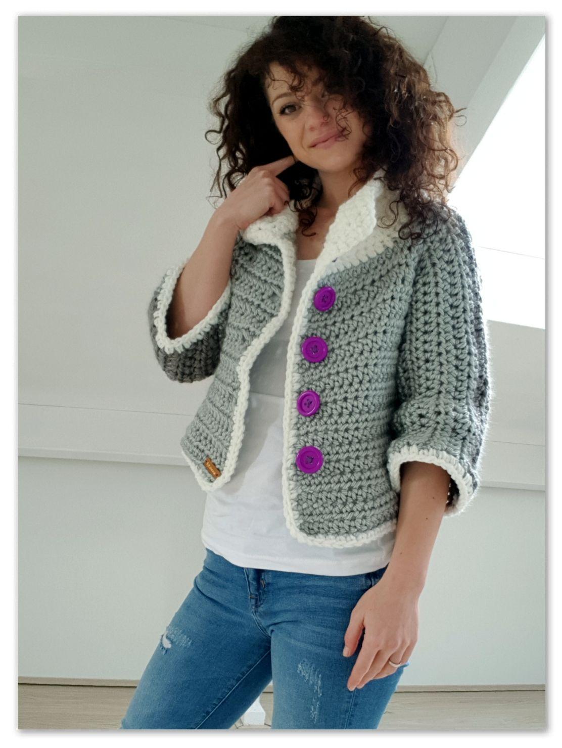 Fancy Jacket. Crochet free pattern | Crochet jacket ...