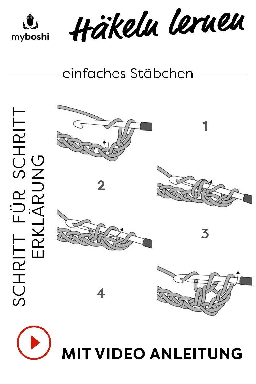 Photo of Häkeln lernen, das einfache Stäbchen – Handwerk,  #Das #einfache #häkeln #han…