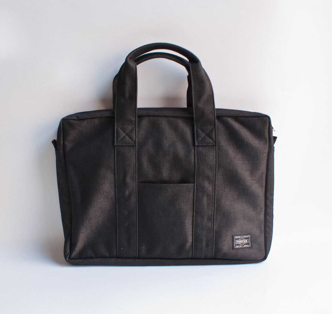 Yoshida Porter Briefcase makes you look organized even if everything is just jammed in the bag all willy nilly