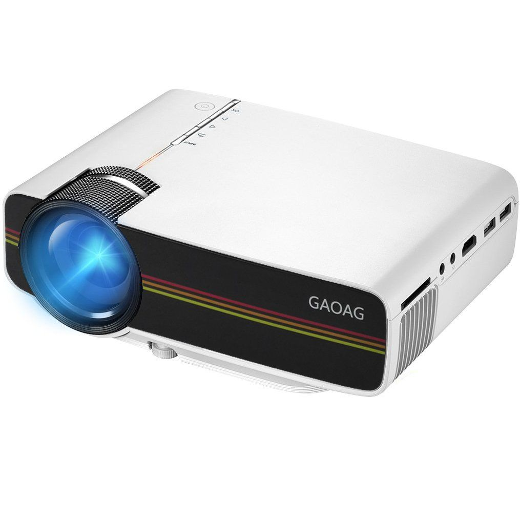 Projector, GAOAG Mini Projector Portable 1080P Video LED Projector ...