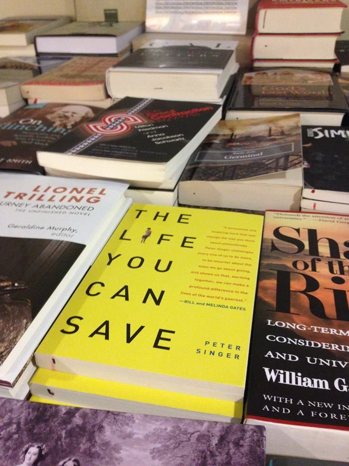 Spotted in a Chicago independent bookstore! Peter Singer's