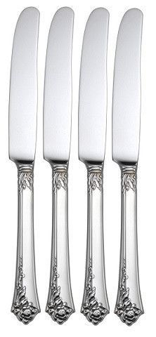 Oneida Damask Rose Set of 4 Dinner Knives USA Made