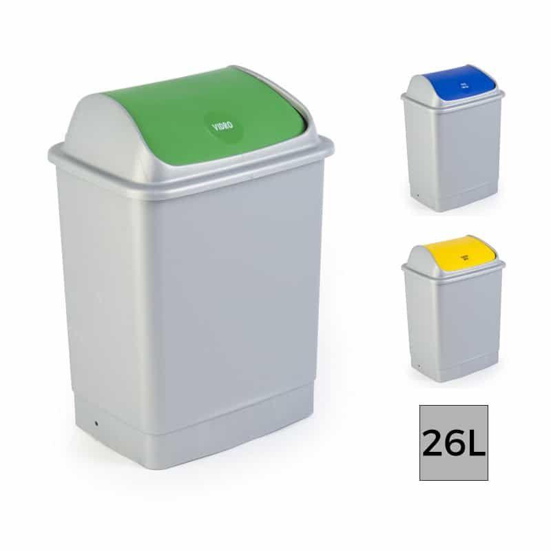 Eco Tri Poubelle Plastique Tri Selectif Avec Couvercle A Bascule