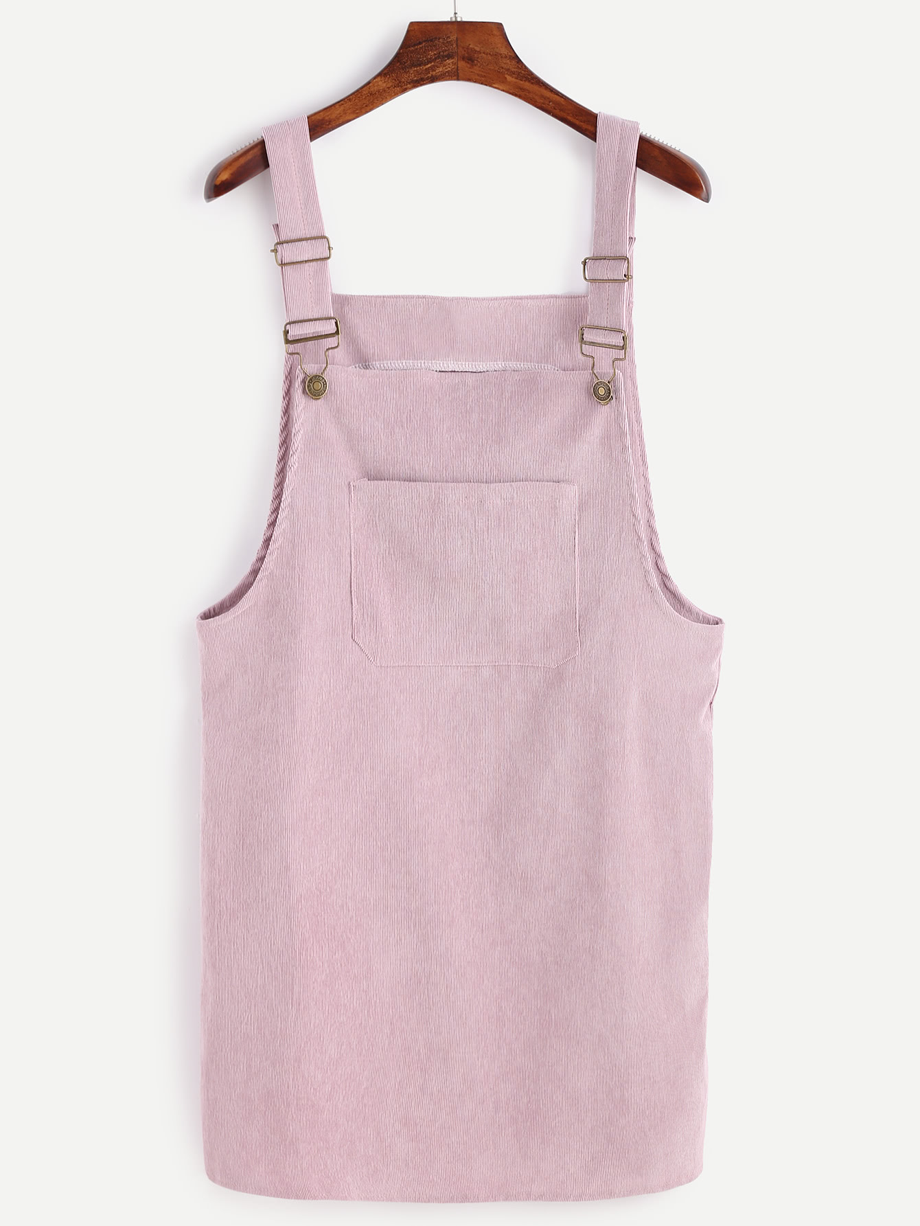 Shop Corduroy Overall Dress With Pocket online. SheIn offers ...