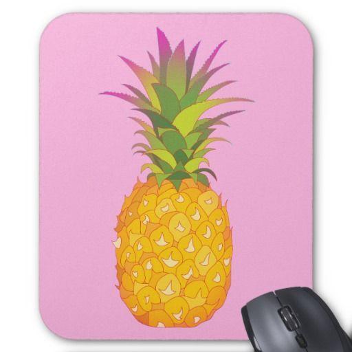 Pineapple - Pink Tropical Mousepad