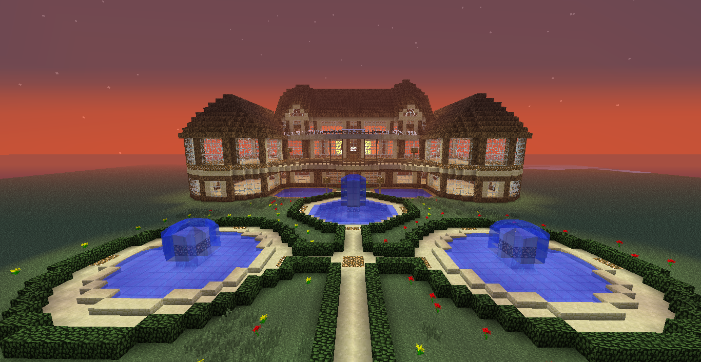 My first big build screenshots show your creation for Big modern houses on minecraft