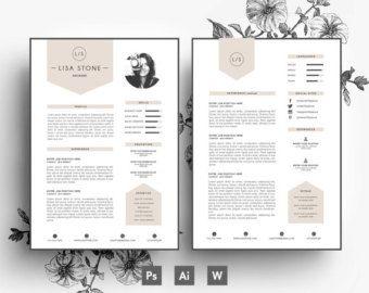 CV Lettre De Motivation Carte Visite 3 Par EmilyARTboutique