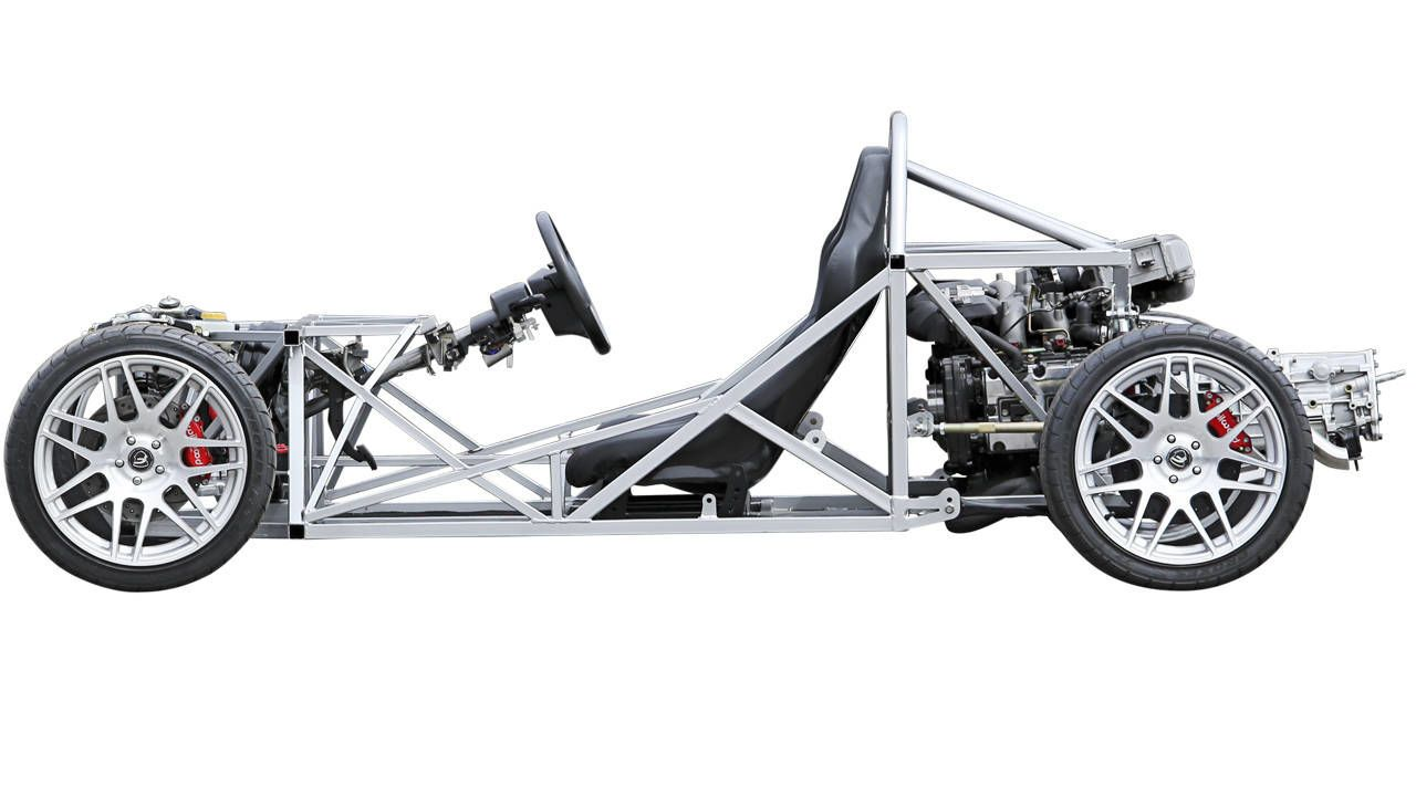 Design of car frame - Assembly Required Enjoyment Assured The Factory Five 818