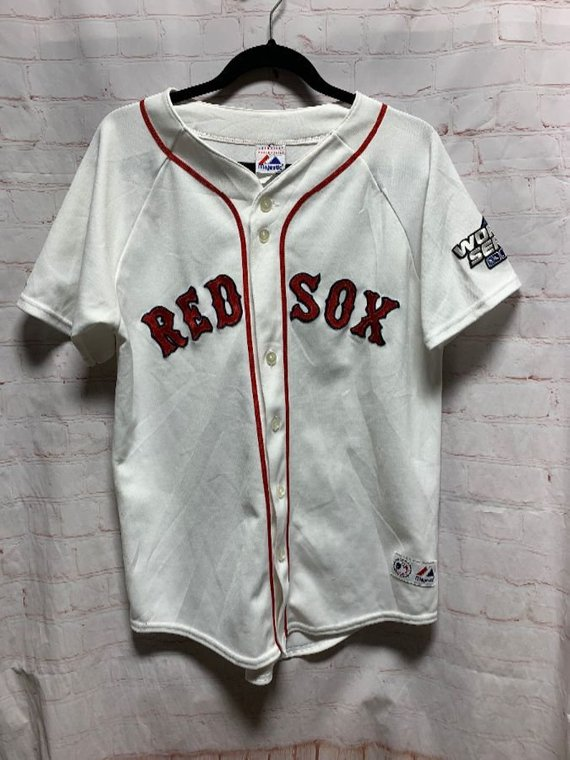 Red Sox Baseball Jersey W World Series Patch Red Sox Baseball Baseball Jerseys Vintage Clothing Stores