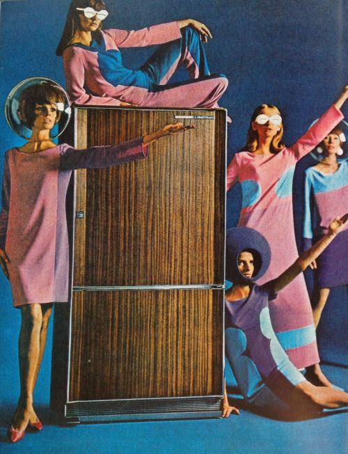 """weirdvintage: """"Frigidaire ad, 1965 (scanned by WeirdVintage, from The Golden Age of Advertising: The 60s by Jim Heimann) """""""