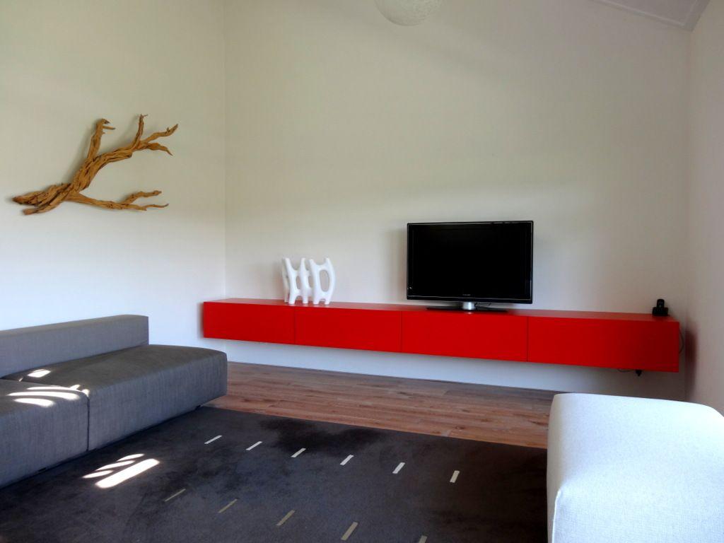 Hedendaags Extra lang zwevend design tv meubel dressoir rood | Meubelen op SL-26