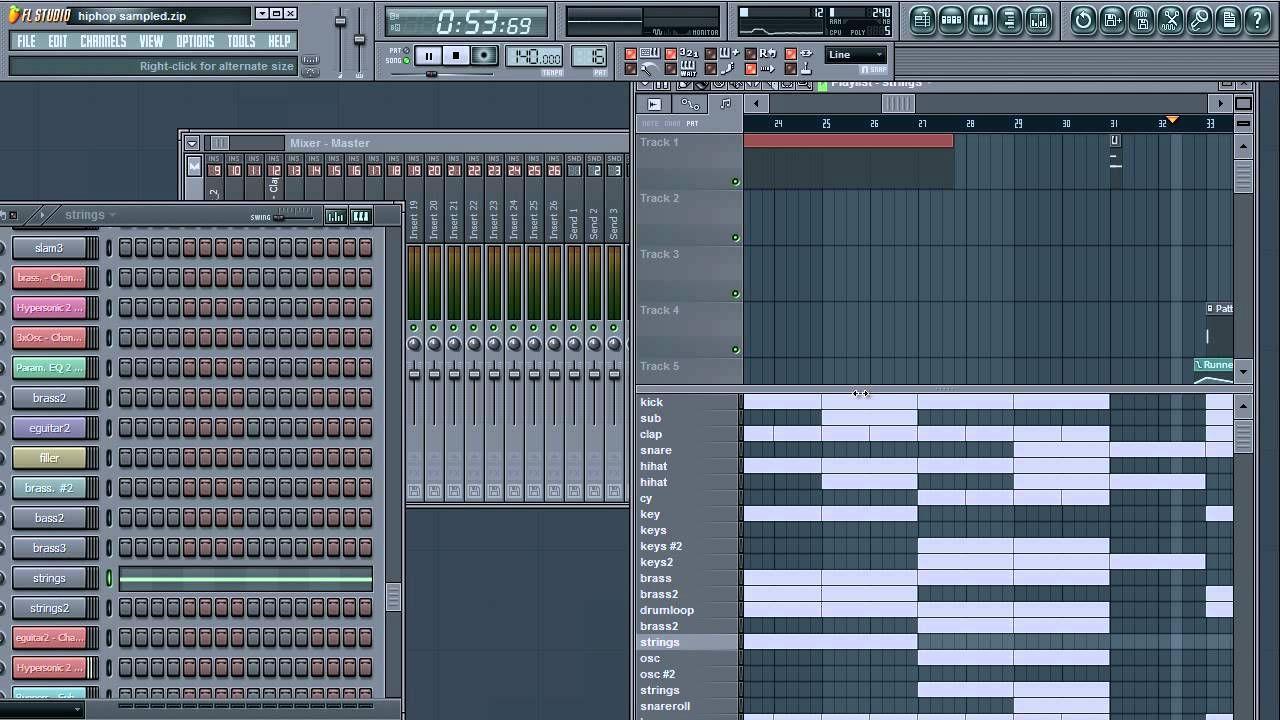 Fl Studio 9 - Hip Hop/Rap Beat - free * mp3 & * flp download